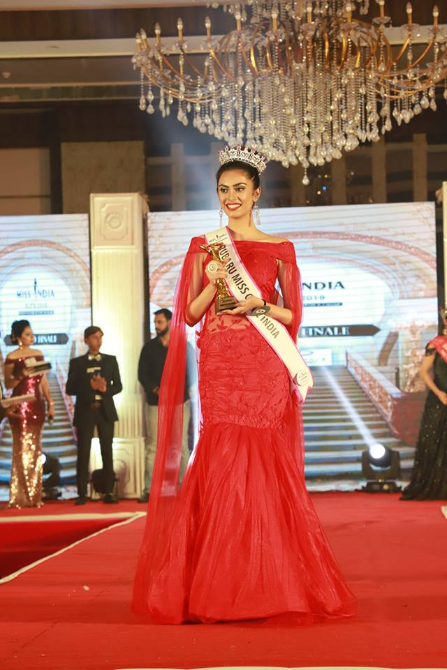 Evneet Kaur Juneja after winning the Rubaru Miss Globe India 2019 title in New Delhi.