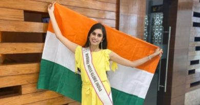 Rubaru Miss Globe India 2019, Evneet Kaur Juneja before heading off to Albania to represent India at the Miss Globe 2019 beauty pageant.