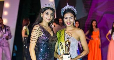 Miss Goa 2019, Narusha Leonath Dsouza with international beauty queen, Nakita Tania Fernandes.