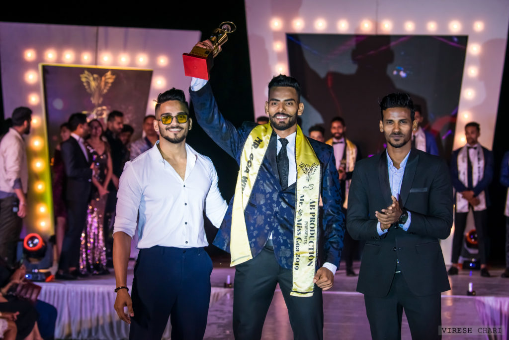 Mr. Goa 2019, Malik Rehan with Mr. Goa 2018, Rahul Rametri and Rubaru Mr. India 2018 (Runner-up), Dilip Patel.