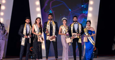 Mr. and Miss Goa 2019 titleholders. Malik Rehan (Mr. Goa 2019), Narusha Leonath Dsouza (Miss Goa 2019), Jedroy Mario Dacunha (Mr. Goa 2019 - First runner-up), Salisha Amonkar (Miss Goa 2019 - First runner-up), Rendel Ferros (Mr. Goa 2010 - Second runner-up) and Vishakha Dinesh Kalvekar (Miss Goa 2019 – Second runner-up)