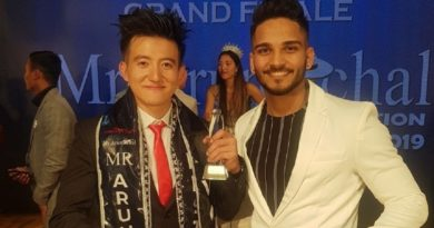 Mr. Arunachal 2019, Tumken Sora with Rubaru Mr. India 2018 (Runner-up), Dilip Patel.