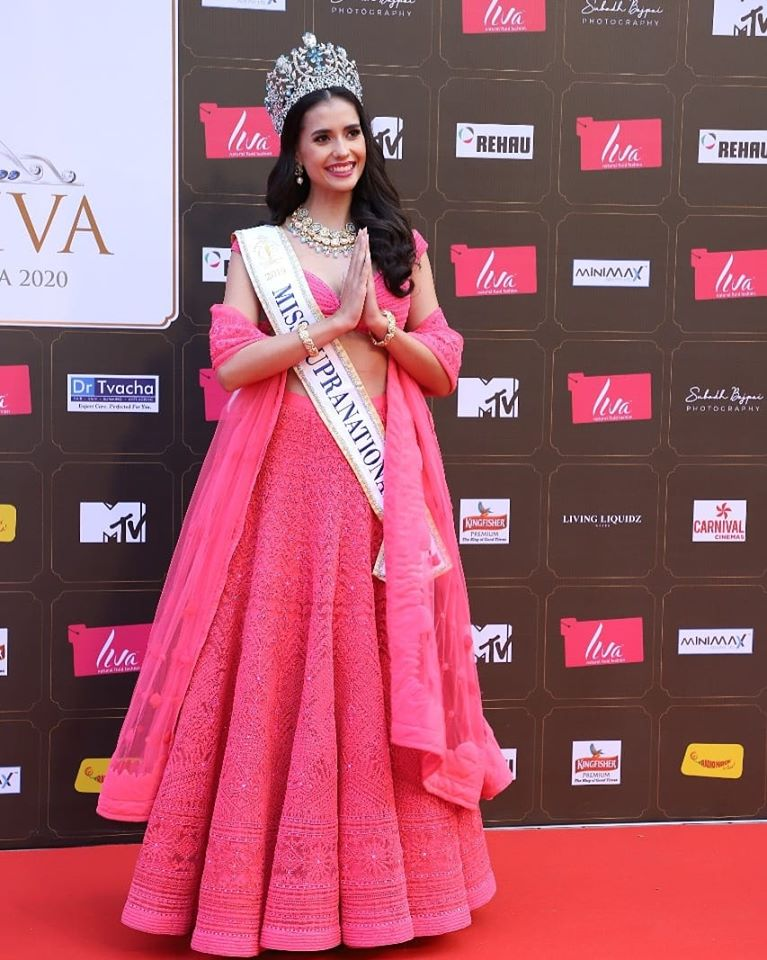Miss Supranational 2019, Anntonia Porsild from Thailand at the grand finale of Miss Diva 2020 contest.