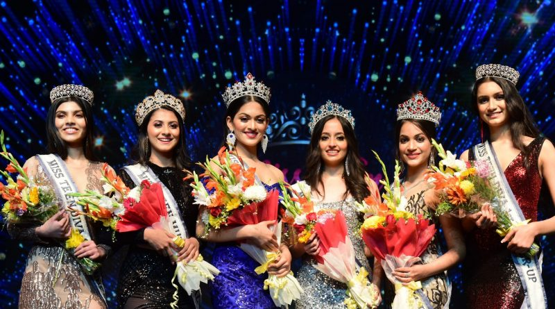 The newly elected Miss Teen Diva 2020 titleholders - Rashi Parasrampuria (Miss Teen India International 2020), Wachi Pareek (Miss Teen India Universe 2020), Aishwarya Vinu (Miss Teen India Earth 2020), Sayali Arye (Miss Teen India Multinational 2020), Pranjal Priya (first runner-up) and Sejal Kumar (second runner-up).