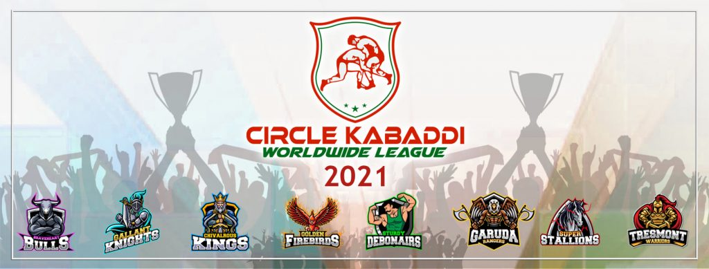 Eight official teams of Circle Kabaddi Worldwide League 2021.