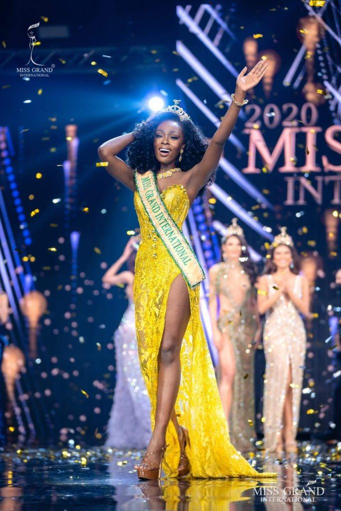 Miss Grand International 2020, Abena Appiah from the United States of America.