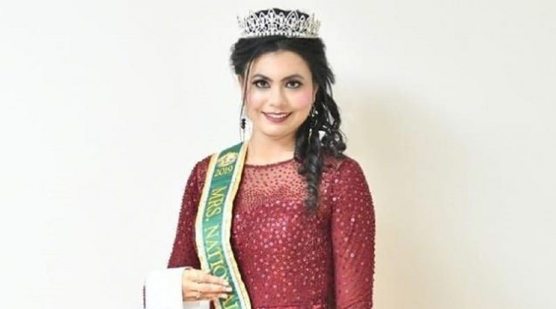 Mrs. National Globe 2019-2020 and Rubaru Mrs. National Universe India 2019-2020, Dr. Naiza Majeed Hasan.