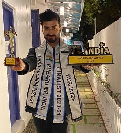 Ankit was unanimously selected by all the judges for both the titles he won – Rubaru Mr. India Worldwide 2020-2021 and Rubaru Mr. India Face of the Year 2020-2021.