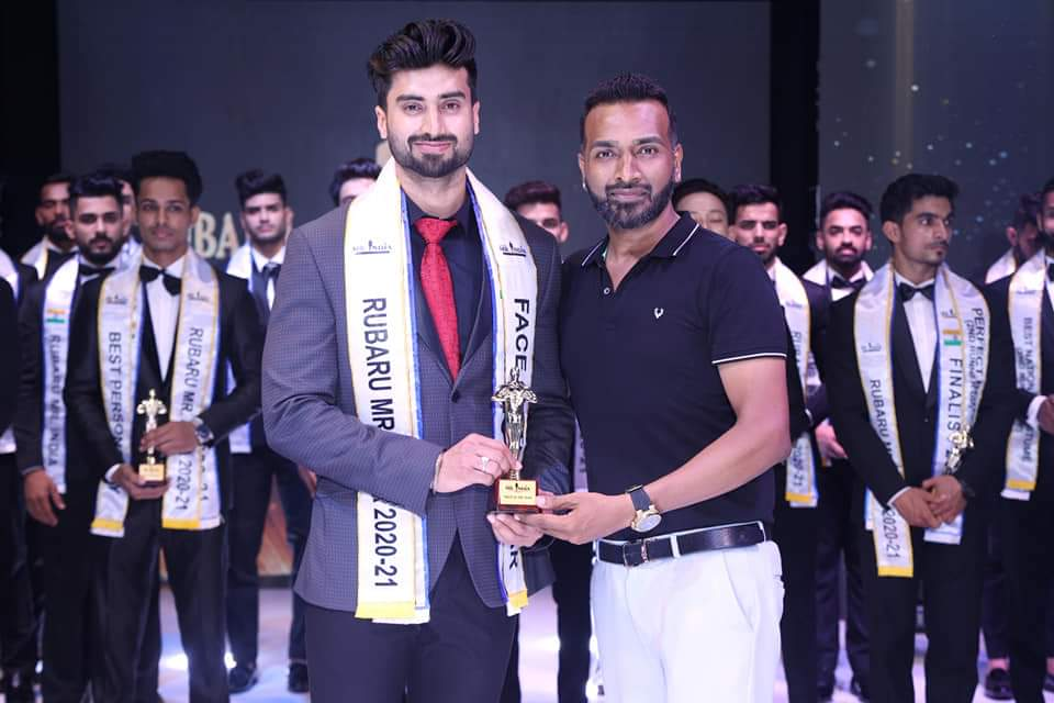 Ankit Sharma was also awarded with 'Face of the Year' award at Rubaru Mr. India contest. All the judges unanimously selected Ankit for 'Face of the Year' award at the contest.