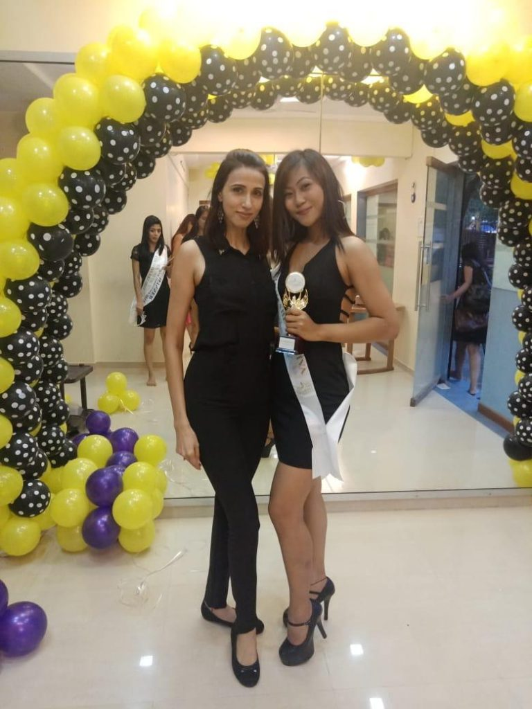 Momita Singha with her mentor, Alesia Raut.