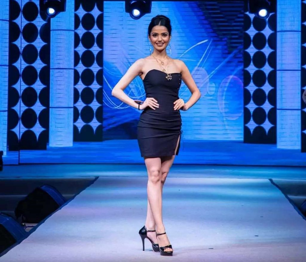 Along with winning the Miss Globe India 2021 title, Mansi Jha also won Face of the Year special award at Rubaru Miss India Elite 2021 contest.